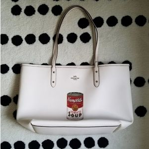 NEW Coach Campbells Soup tote white Andy Warhol